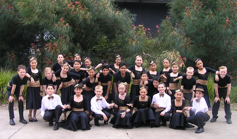 Our Dancesport group in their black white and gold costumes.