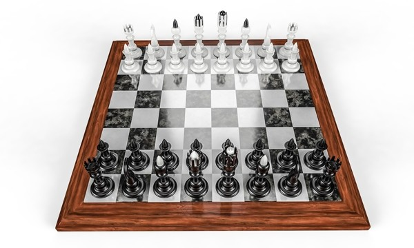 an illustration of a chess board